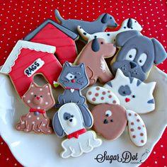 Sugar Dot Cookies: dogs