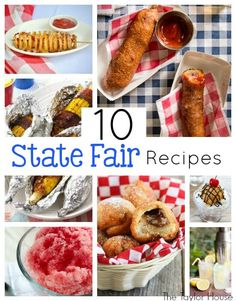 I absolutely love carnival food! It may not be the healthiest, but it sure is tasty! Bring the carnival and fair home with you with these 10 State Fair Recipes! New Recipes, Cooking Recipes, Favorite Recipes, Copycat Recipes, Easy Recipes, State Fair Food, Minnesota State Fair, Good Food, Yummy Food