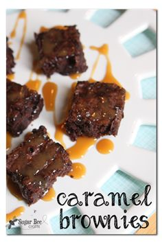 Sugar Bee Crafts: Caramel Brownies with International Delight