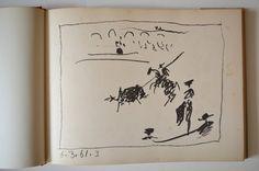 Pablo Picasso Toreros 1961 1st Edition Book with 4 Original Prints