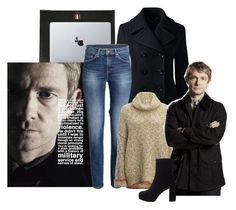 """John Watson"" by fandoms-obsessed ❤ liked on Polyvore featuring Thom Browne, Vinyl Revolution, Lands' End, Free People and Miu Miu"