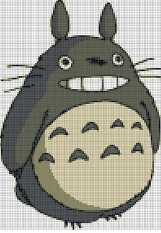 Counted Cross Stitch Pattern Totoro by LePCCdiMeri on Etsy, €2.50