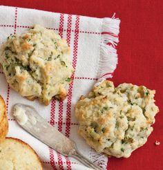 Creamy Tarragon Drop Biscuits