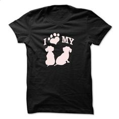 Dachshund Wiener  I love my   - #graphic t shirts #shirts for men. ORDER NOW => https://www.sunfrog.com/Funny/Dachshund-Wiener-I-love-my-.html?60505