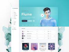 Hi Dribbblers Effects of my Sunday vibes. Artist page for Online Music Streaming Platform.️ Have a great week!