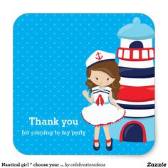 Sold. #Nautical #girl #sticker Available in different products. Check more at www.zazzle.com/celebrationideas