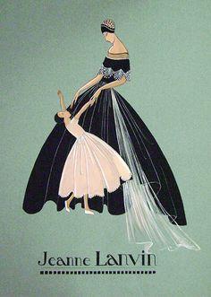 Las faldas con vuelo fueron la marca de la casa en la década de los 30. Lanvin poseía tanto creatividad como habilidad para la confección.