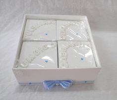 Caixa Minhas Recordações Azul   Oficina do Bebê artesanto   Elo7