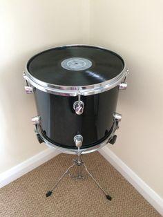 Upcycled Tom Drum Side Table von AmtyDesign auf Etsy