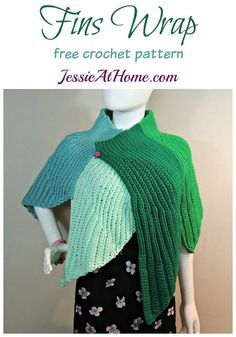 Fins Wrap free crochet pattern by Jessie At Home