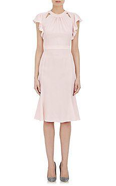 Flutter-Sleeve Claudette Dress