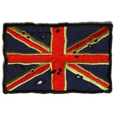 inchIron on or Sew on PatchPlastic Backing & Die Cut BordersEmbroidered Patch Flag Patches, Iron On Patches, Uk Flag, Union Jack, Sewing, Red, Coins, Vintage, Ebay