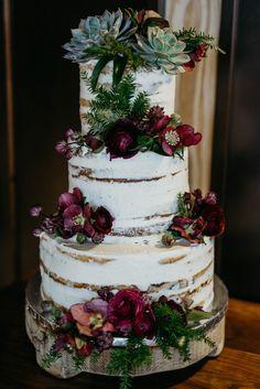 Washington DC Winter Wedding at District Winery // Yards Park wedding cakes Perfect Wedding, Dream Wedding, Gold Wedding, Tartan Wedding, Wedding Men, Purple Wedding, Wedding Flowers, Christmas Wedding Cakes, Winter Wedding Cakes