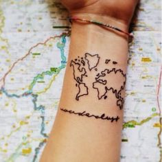 I love to travel and i did this world map tattoo after i which 10 things i hate about you character are you world map tattoosworld gumiabroncs Image collections