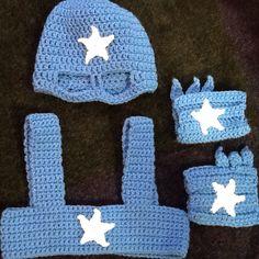 Crochet Super hero costume for my little boy.