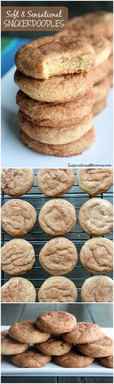 Soft & Sensational Snickerdoodles are perfectly chewy and delicious! Covered in cinnamon and sugar, these cookies are simply magical!