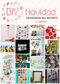 16 ideas de calendarios del adviento diy 2015 (con tutoriales) ! La Cantatrice