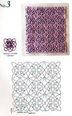Lovely crochet stitch pattern with diagram. Crochet Blocks, Crochet Motifs, Crochet Diagram, Crochet Stitches Patterns, Crochet Chart, Crochet Squares, Crochet Designs, Crochet Doilies, Crochet Flowers