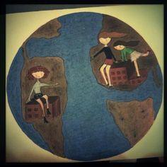 """Ilustración """"Amistad"""" dedicada a Natalia, 2012"""