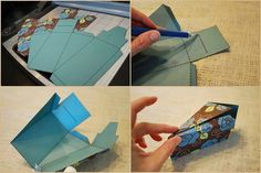 Kreatív meglepetés: hajtogassunk papírtortát!   Életszépítők Card Holder, Wallet, Cards, Ideas, Handmade Purses, Map, Thoughts, Purses, Diy Wallet