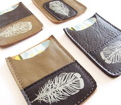 Metro or Debit Card Sleeve  Recycled Leather by bonspielcreation, $14.00