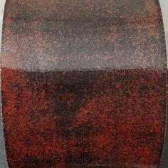 Category: Glaze, Iron, Kaki, Tomato Red, Author: Clara Giorello, Notes: Harris Tenmoku Red (variation), Glaze #7 on Ian Currie's grid, using Kaolin.