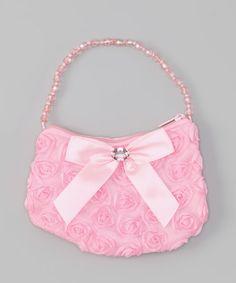 0c264c9f4b0d Pink Rosette Rhinestone Purse by Cinderella Couture  zulilyfinds