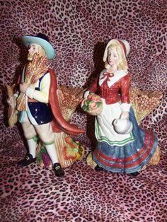 Fitz and Floyd Harvest Heritage Pilgrims  Set of by ConfuciusKitty, $147.95