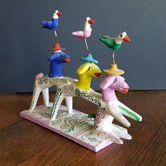 Goats Gotta Dance: Terra Cotta Dancing Goats Figurine Sculpture Whimsical South or Central America