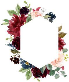 Blank Wedding Invitation Templates, Wedding Invitation Background, Burgundy Wedding Invitations, Flower Invitation, Wedding Templates, Wedding Invitation Cards, Wedding Cards, Floral Frames, Orchid Flower Arrangements