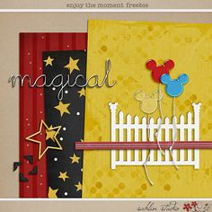 Enjoy the Moment FREEBIE by Sahlin Studio - Perfect for those magical Disney pages and projects!