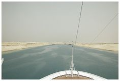 In the new channel of the Suez Canal