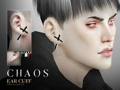 Ear cuff for the left or right side. All genders,, 3 different cross colors + 5 metal colors (all in one, 15 variations). Found in TSR Category 'Sims 4 Female Earrings' Sims 4 Game Mods, Sims Games, Sims Mods, Sims 4 Mods Clothes, Sims 4 Clothing, Sims 4 Teen, Sims Cc, Die Sims 4 Packs, K Pop
