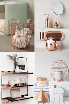 Young Room – home accessories Room Decor Bedroom Rose Gold, Rose Gold Rooms, Rose Gold Decor, Home Decor Bedroom, Cute Room Decor, Teen Room Decor, Cute Room Ideas, Home Office Design, Home Office Decor