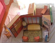 Vintage 1963 RARE Cardboard Barbie New Dream House Complete | eBay