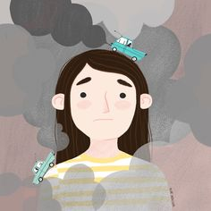 Illustration portrait about air pollution.  Postcard pack available at www.nurventura.com  #airpollution #nurventura #postcard #illustration #illustrationshop Air Pollution, Portrait Illustration, Disney Characters, Fictional Characters, Advice, Portraits, Study, Disney Princess, Ideas