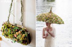 A succulent umbrella... if you've ever made a wreath you appreciate this 100x more!