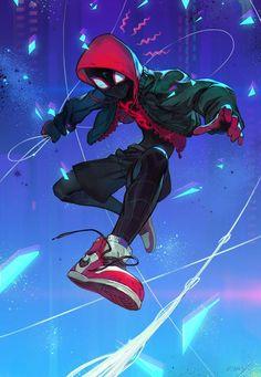 Dessin fanart Spider-Man Into The Spider-Verse par Morry