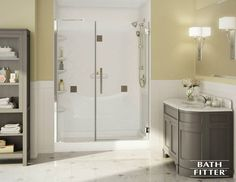 At Bath Fitter we hear a lot of questions about how to create the best bathroom possible. As you begin planning your new bathroom, here's how to handle some of the most common questions and obstacles homeowners face. Small Shower Remodel, Bathtub Remodel, Bath Fitter, Shower Rods, Fitted Bathroom, Fiberglass Shower, Small Showers, Bathtub Shower, Bathroom Renovations