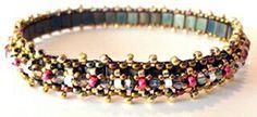 Dainty Tila Bangle Class Jewelry Making Classes, Bangles, Beaded Bracelets, Beading, Beauty, Bangle Bracelets, O Beads, Bracelets, Pearl Bracelets