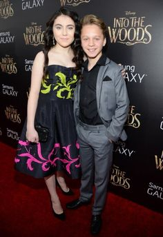 Daniel Huttlestone and Lilla Crawford at event of Into the Woods Daniel Huttlestone, Lilla Crawford, Into The Woods Movie, Gail Carriger, Sam Wood, Finishing School, Young Actors, A Guy Who, Les Miserables