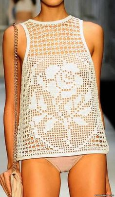 crochet top - with chart