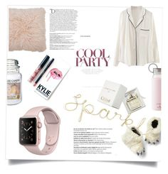 """""""Pajama party!!"""" by lucifuk on Polyvore featuring M&Co, Yankee Candle, WithChic, Kate Spade, Chloé, Gap, Kylie Cosmetics and Balmain"""