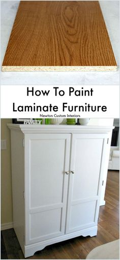 To Paint Laminate Furniture Learn how to paint laminate furniture quickly and easily with this step-by-step video tutorial!Learn how to paint laminate furniture quickly and easily with this step-by-step video tutorial! Furniture Projects, Furniture Making, Home Furniture, Furniture Design, Rustic Furniture, Diy Projects, Bedroom Furniture, Furniture Stores, Antique Furniture