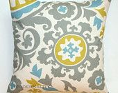 Premier Prints Summerland Suzani Pillow Cover- 16x16 inches- Hidden Zipper Closure