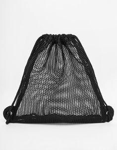 Enlarge ASOS Mesh Drawstring Backpack