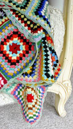 Porcupine Jane - Gran's granny square crochet blanket