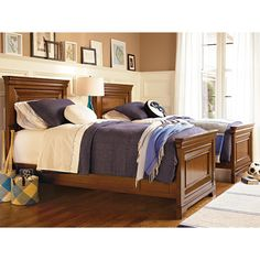 Brighton Twin Panel Bed in Saddle Brown from PoshTots