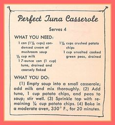 Perfect Tuna Casserole Sisters in the Kitchen — Hey, Little Sister… Tuna Recipes, Old Recipes, Seafood Recipes, Great Recipes, Cooking Recipes, Favorite Recipes, Delicious Recipes, Yummy Food, Seafood