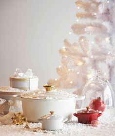 Christmas in Paris - Le Creuset Signature Round Casserole with NEW Gold Knob